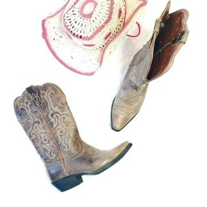 《Justin Boots》 Cowgirl Boots Genuine Leather